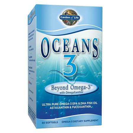 Garden of Life Oceans 3 Beyond Omega-3 Softgels, 60