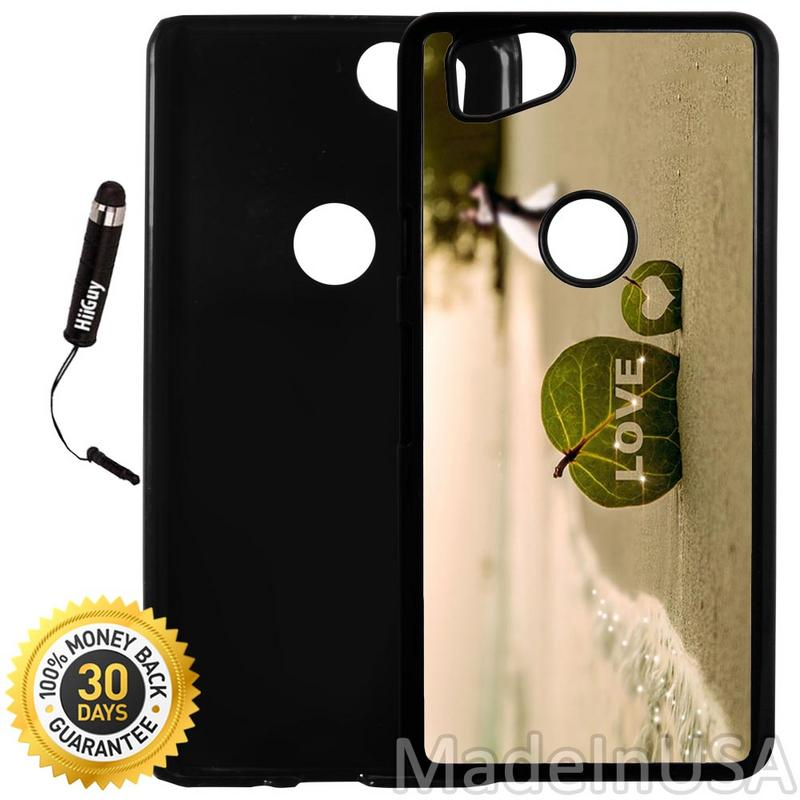 Custom Google Pixel 2 Case (Beach Couple Love) Plastic Black Cover Ultra Slim | Lightweight | Includes Stylus Pen by Innosub