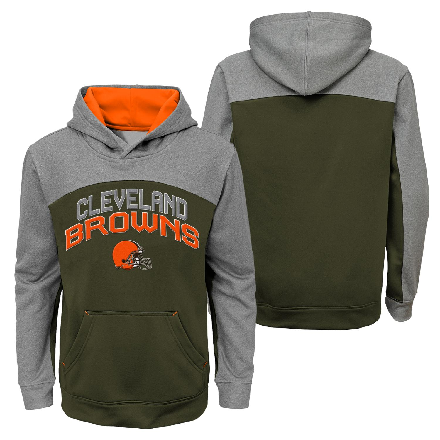 """Cleveland Browns Youth NFL """"Arc"""" Pullover Hooded Sweatshirt"""