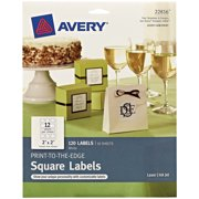 "Avery Square Labels, Permanent Adhesive, 2""x 2"", 120 Labels (22816)"