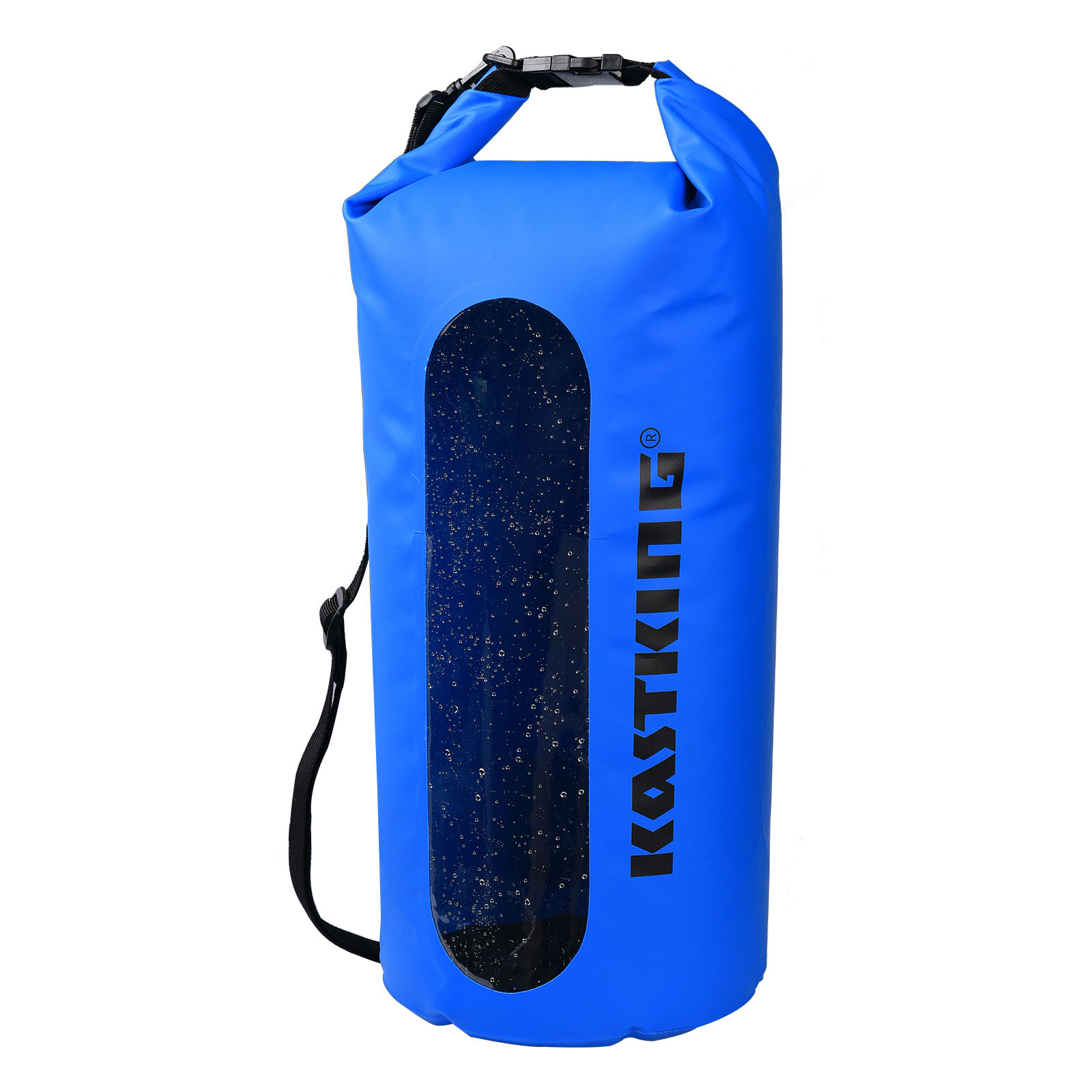 Waterproof Dry Bag Roll Top Survival Sack Kit Dry Gear Bag Camping Equipment blue 10L by LESHP