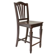 Sturdy Dining Chairs Counter Height-Finish:Mahogany,Quantity:4 Piece