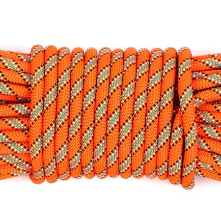 8MM Thickness 10M Outdoor Climbing Rope Climbing Rope Safety Lifeline Escape Insurance Rope Lifeline with Carabiner Wild Survival Equipment for Mountaineering Rock Climbing thumbnail