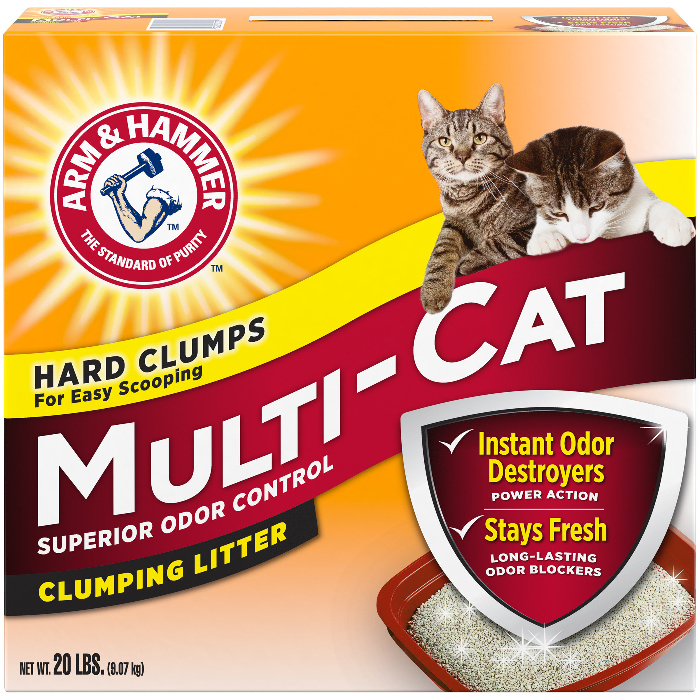 Arm & Hammer Clumping Cat Litter Multi Cat, 20-lb