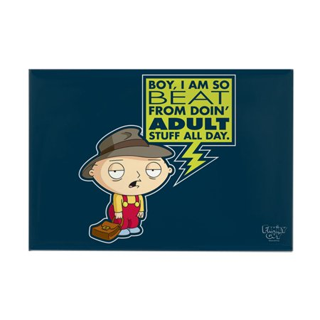 """CafePress - Family Guy Stewie Adult - Rectangle Magnet, 2""""x3"""" Refrigerator Magnet"""