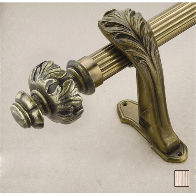 WinarT USA 8. 1072. 45. 11. 280 Palas 1072 Curtain Rod Set - 1. 75 inch - Flash Copper - 110 inch