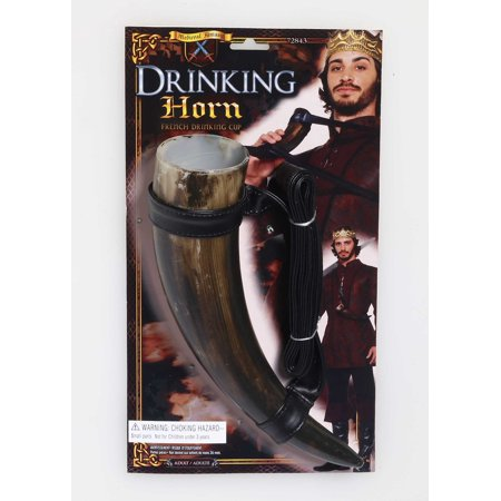 Medieval Drinking Game Horn Fantasy French Cup of Thrones Necklace Accessory - Halloween Drinking Games 2017