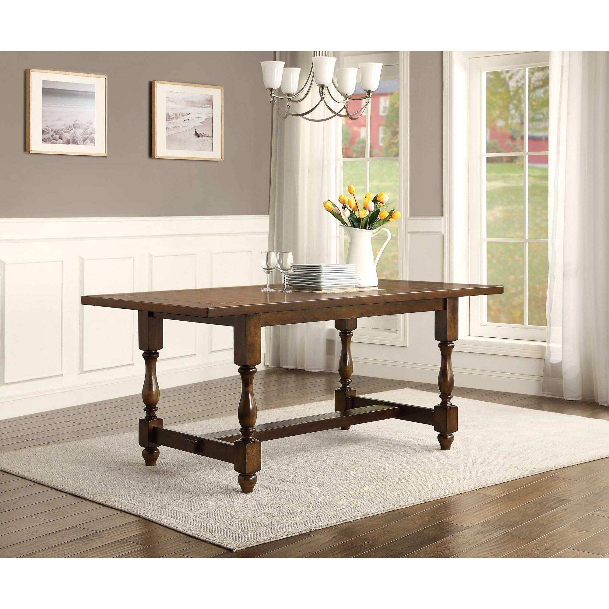Better Homes and Gardens Providence Dining Table, Brown by