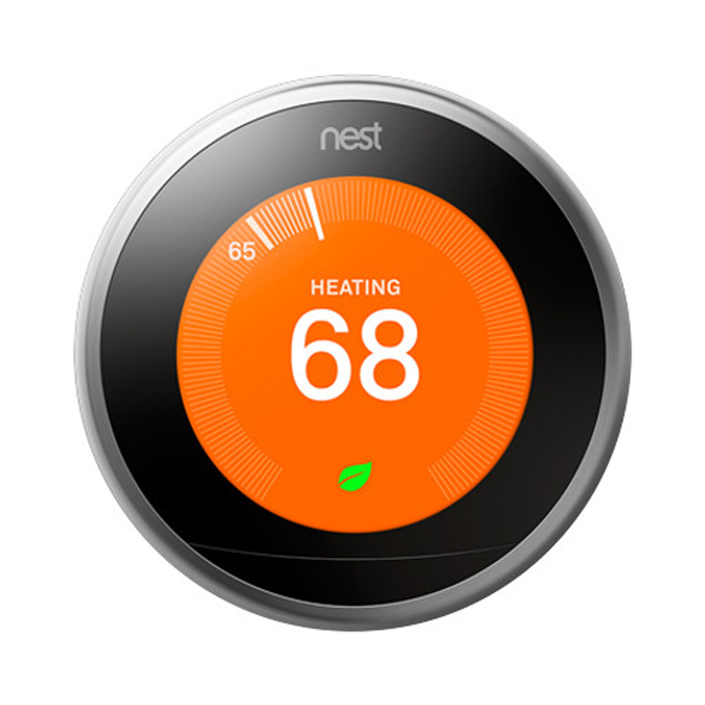 Nest Auto-Schedule Self-Programming , Smart & Wi-Fi Thermostat - 3rd Generation ,Stainless Steel New !
