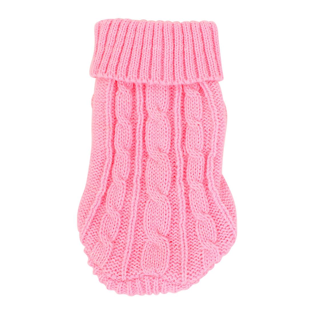 Unique Bargains XXS Sweater Knit Ribbed Cuff Turtleneck Apparel Cozy Clothes Pet Dog Cat Puppy