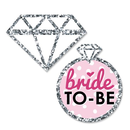 Bride-To-Be - DIY Shaped Bridal Shower & Bachelorette Party Cut-Outs - Classy Bachelorette Party Decorations - 24 Count