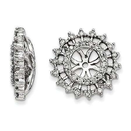 14K White Gold Diamond Fancy Sun Jackets Earrings (0.33 CTTW, G-I Color, I1-I2 Clarity) ()