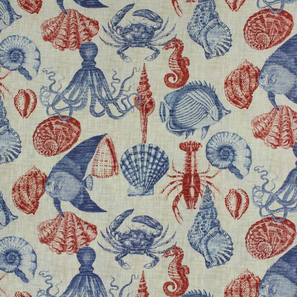 "Berkshire Home Polyester 54"" Indoor/Outdoor Sea-life Deepsea Fabric, per Yard"
