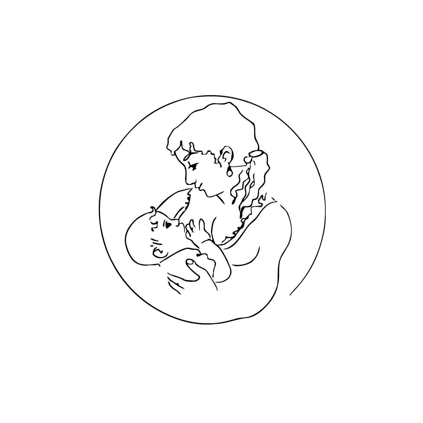Vsgraphics llc Mother Feeding Child Vinyl Wall Art