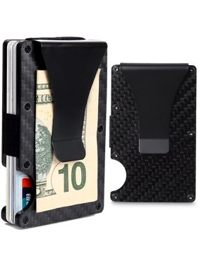 318f3aa01d22 Product Image CoreLife RFID Blocking Money Clip with Credit Card Holder  Slim Fit Aluminum Carbon Fiber Design Wallet