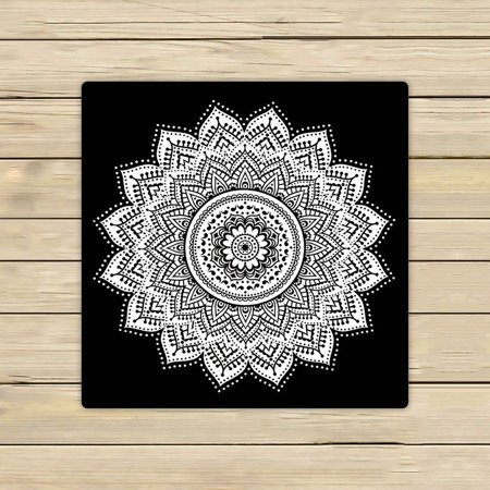 Gckg Mandala Towels Black And White Indian Beach Bath Bathroom Body Shower