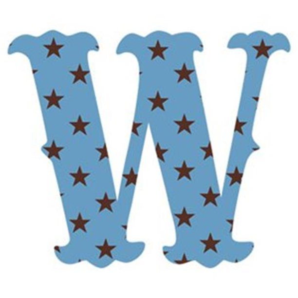 wallcandy arts sw luv letters stars w in blue - pack of 2
