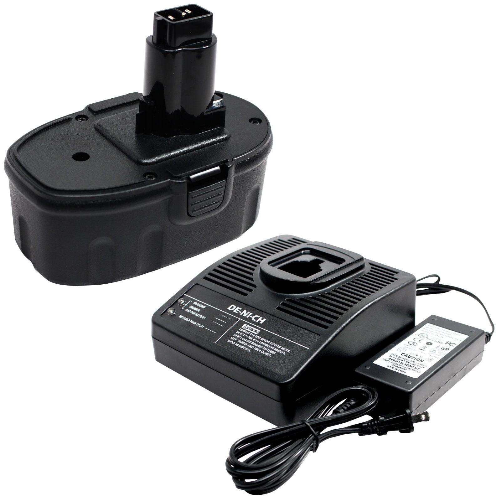 UpStart Battery DeWalt 18V Battery + Charger Replacement ...