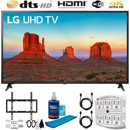 "LG 60UK6090 60"" 4K HDR Smart LED UHD TV w HDR Includes Flat Wall Mount & Wireless Keyboard Ultimate Bundle (UK6090PUA 60UK6090P 60UK6090)"