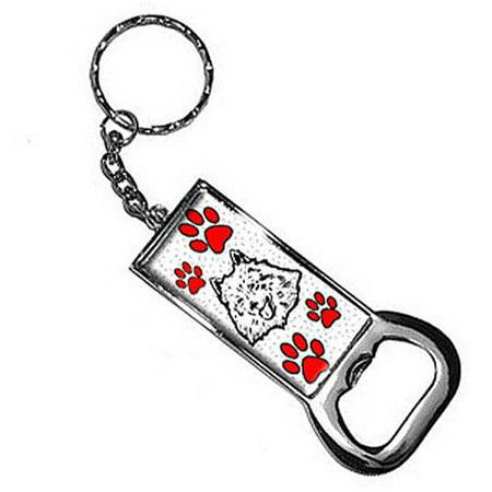 American Eskimo Dog Of Distinction Keychain Key Chain Ring Bottle Bottlecap Opener