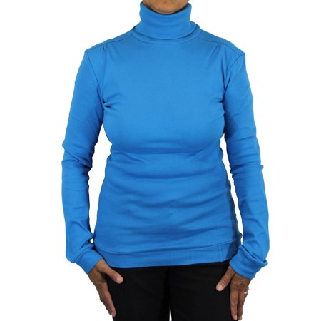 Ladies Supersoft Cotton Long Sleeve Top Turtleneck