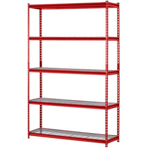 Muscle Rack 5-Shelf Steel Shelving, Red