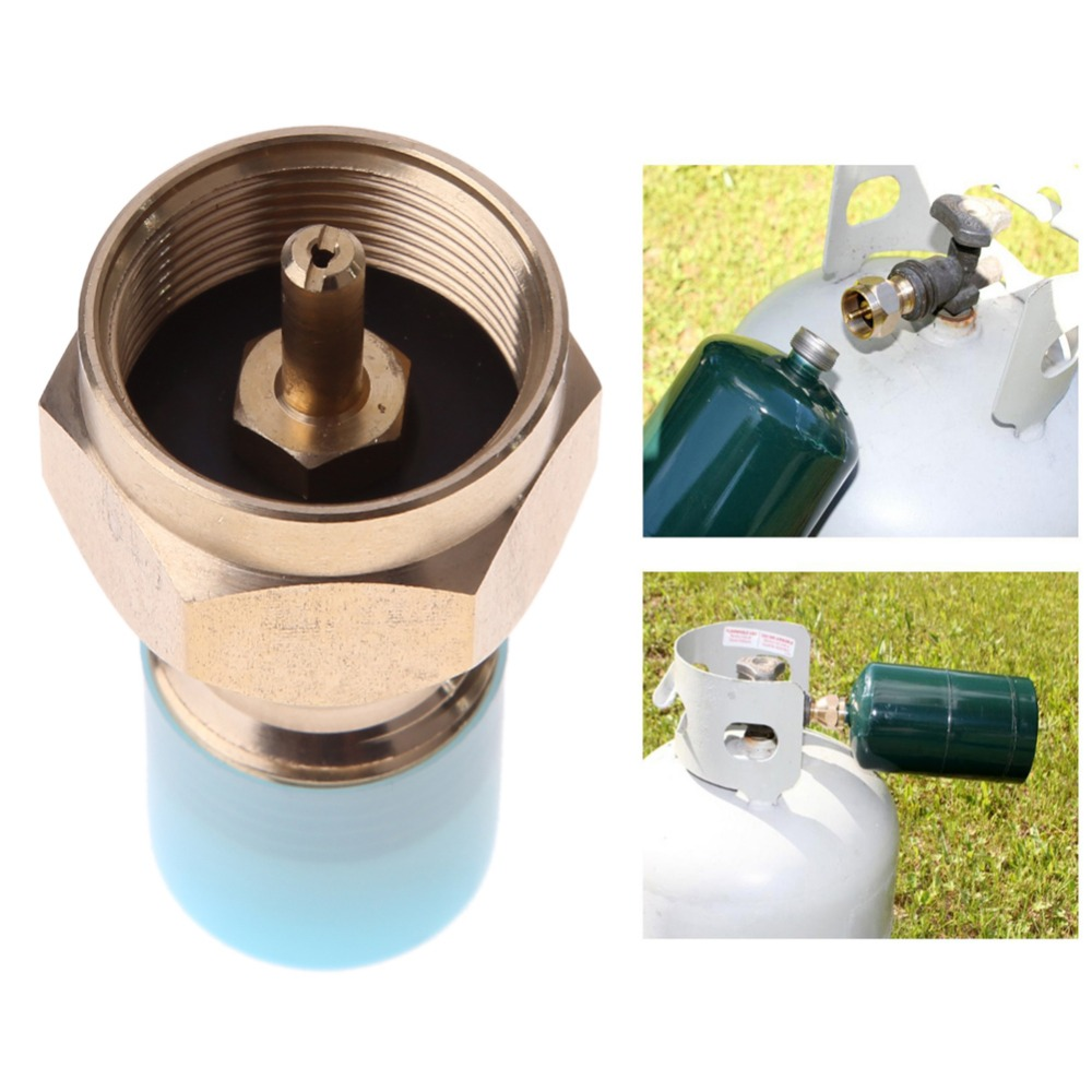 Propane Refill Adapter Lp Gas 1 Lb Small Gas Cylinder Tank Coupler Heater Stove