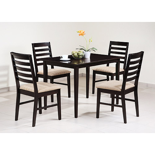 Monroe 5 Piece Dining Set, Espresso