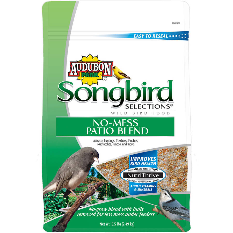Audubon Park 11987 5.5 Lbs Songbird Selections Patio Blend Wild Bird Food by Global Harvest/woodinville