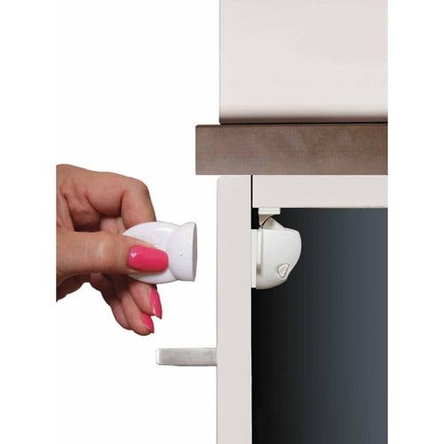 Dreambaby  Black  Plastic  Cabinet Slide Locks  2 pk
