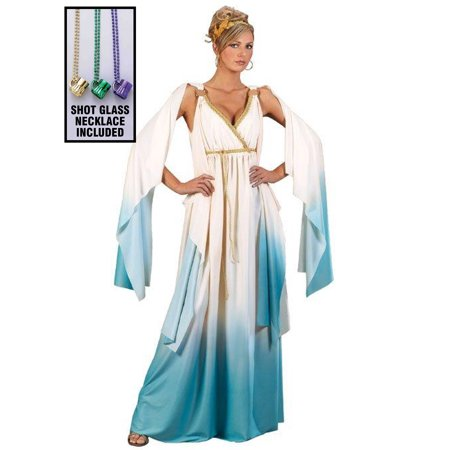 Greek Goddess Adult Costume Party Kit - White Greek Goddess Costume