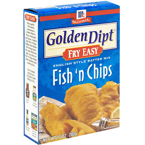 Golden Dipt Fish & Chips Seafood Batter mix, 10 oz (Pack of 12)