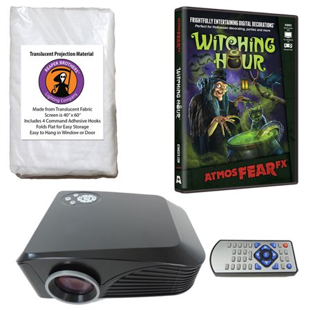 Halloween Digital Decoration Kit includes 800 x 600 Resolution Projector, Reaper Brothers? 60