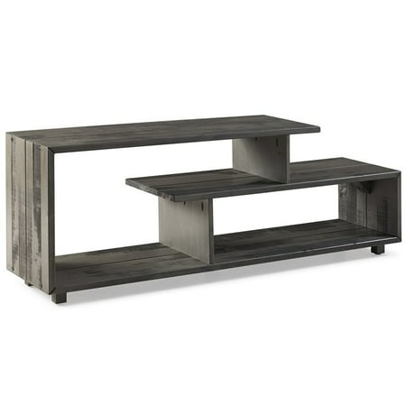 60 inch Rustic Solid Wood TV Stand Console in Grey ()