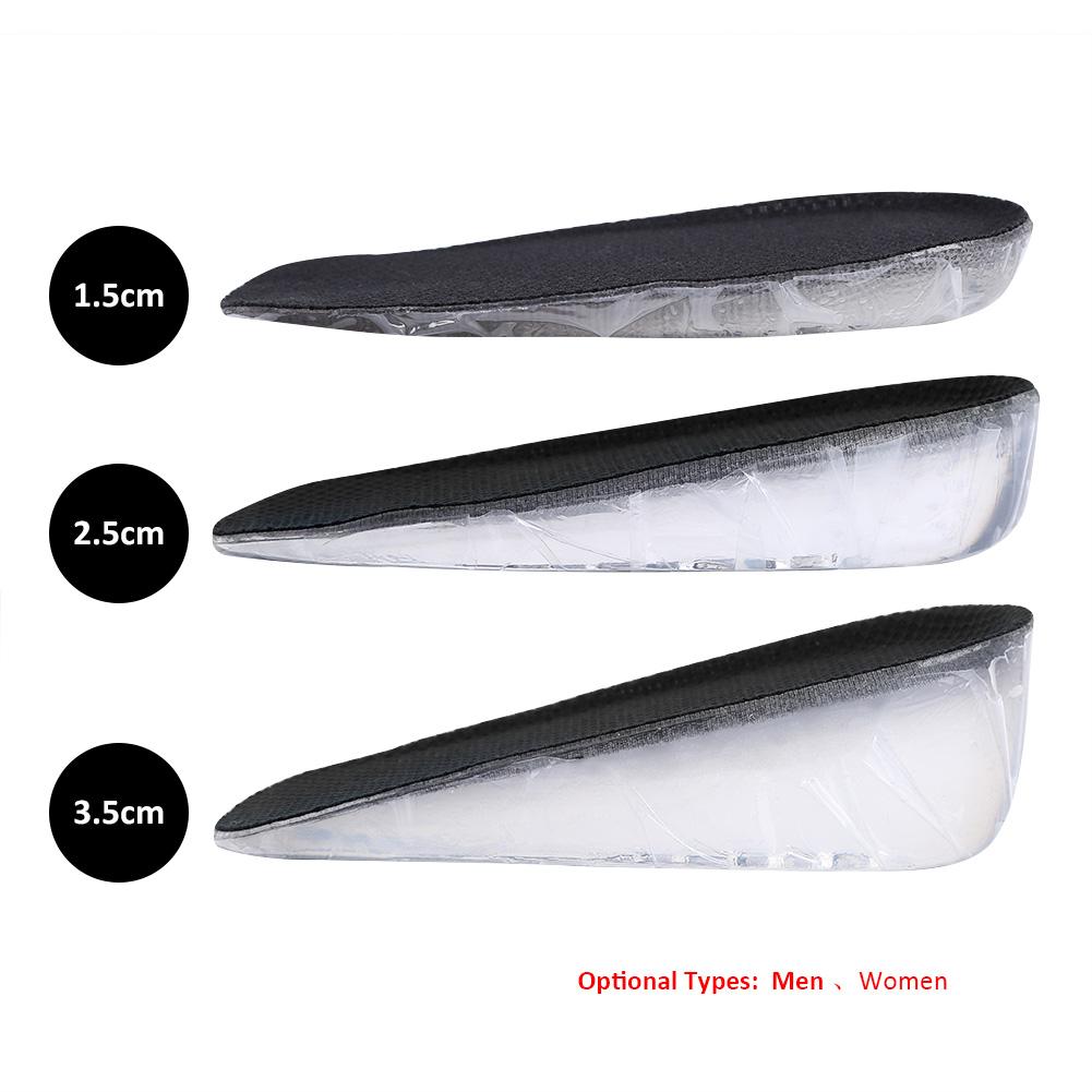 4 cm Protection du talon 1 paire de semelles en silicone pour augmenter la hauteur du talon Invisible