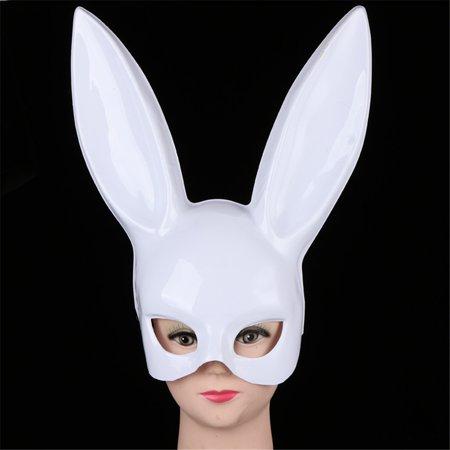 DZT1968 Bright Easter Party Rabbit Ears Mask Half Face Masks Nightclub Bar Masquerade - Rabbit Half Mask