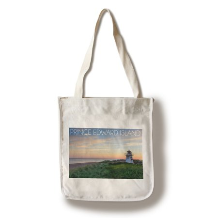 Prince Edward Island, Canada - Covehead Lighthouse & Sunset - Lantern Press Photography (100% Cotton Tote Bag - (Cove Head)