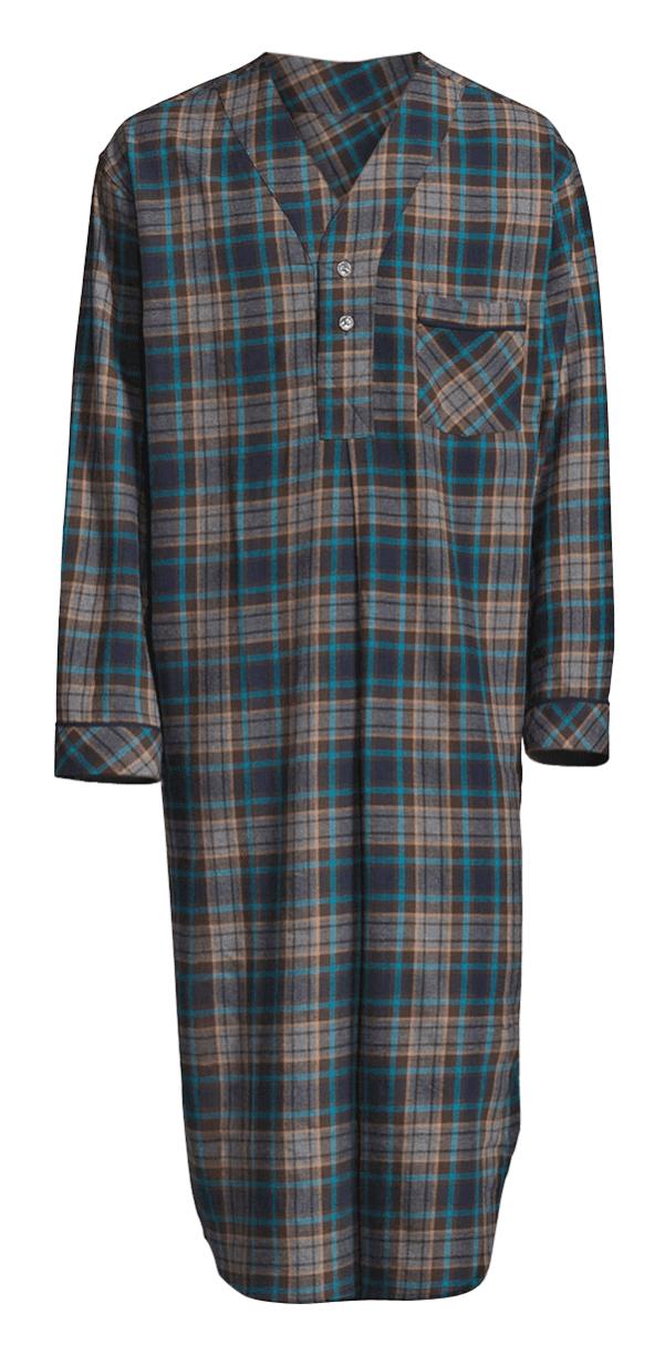 Stafford - Stafford Men s Flannel Nightshirt - Blue Plaid - 2X-Large -  Walmart.com 62080b86f
