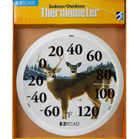 Image of Headwind Consumer Products 840-0026 EZ Read Dial Thermometer with Winter Deer, 13.5-Inch