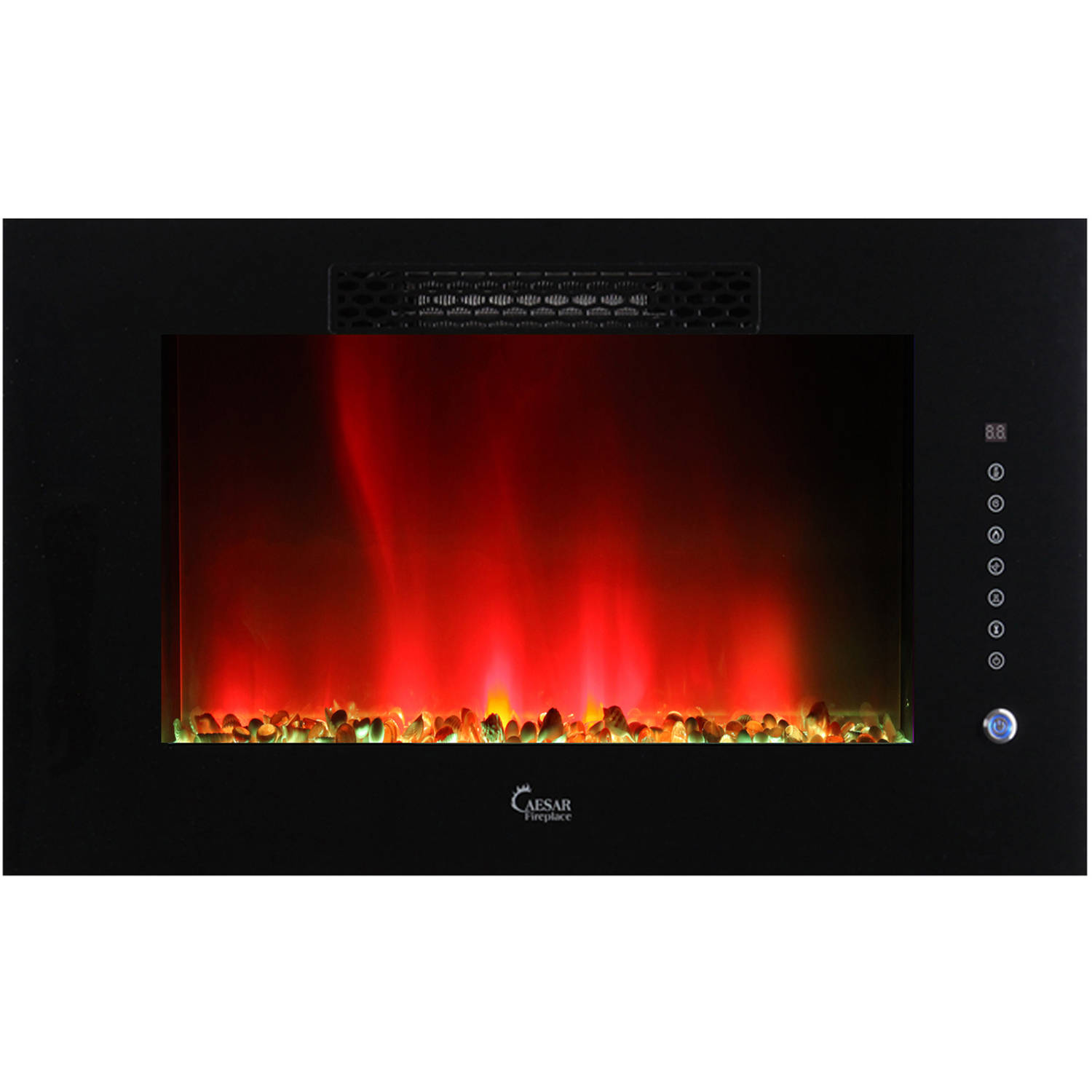 2015 Caesar Luxury Electric Wallmount Multicolor Flame Electric Fireplace, 30-inch