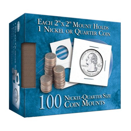 - Nickel/Quarter 2x2 Coin Mount Cube 100 Count (Hardcover)
