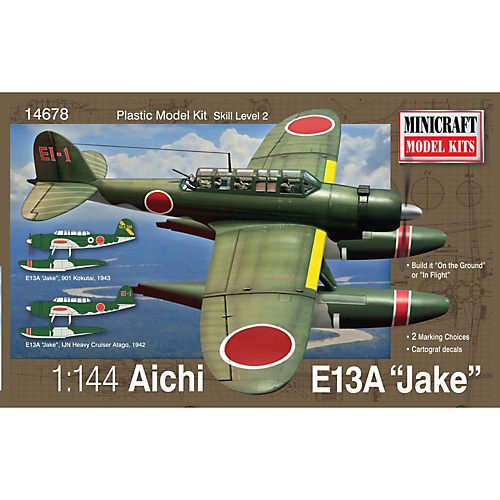 1/144 Aichi E-13A Seaplane (Jake) Multi-Colored
