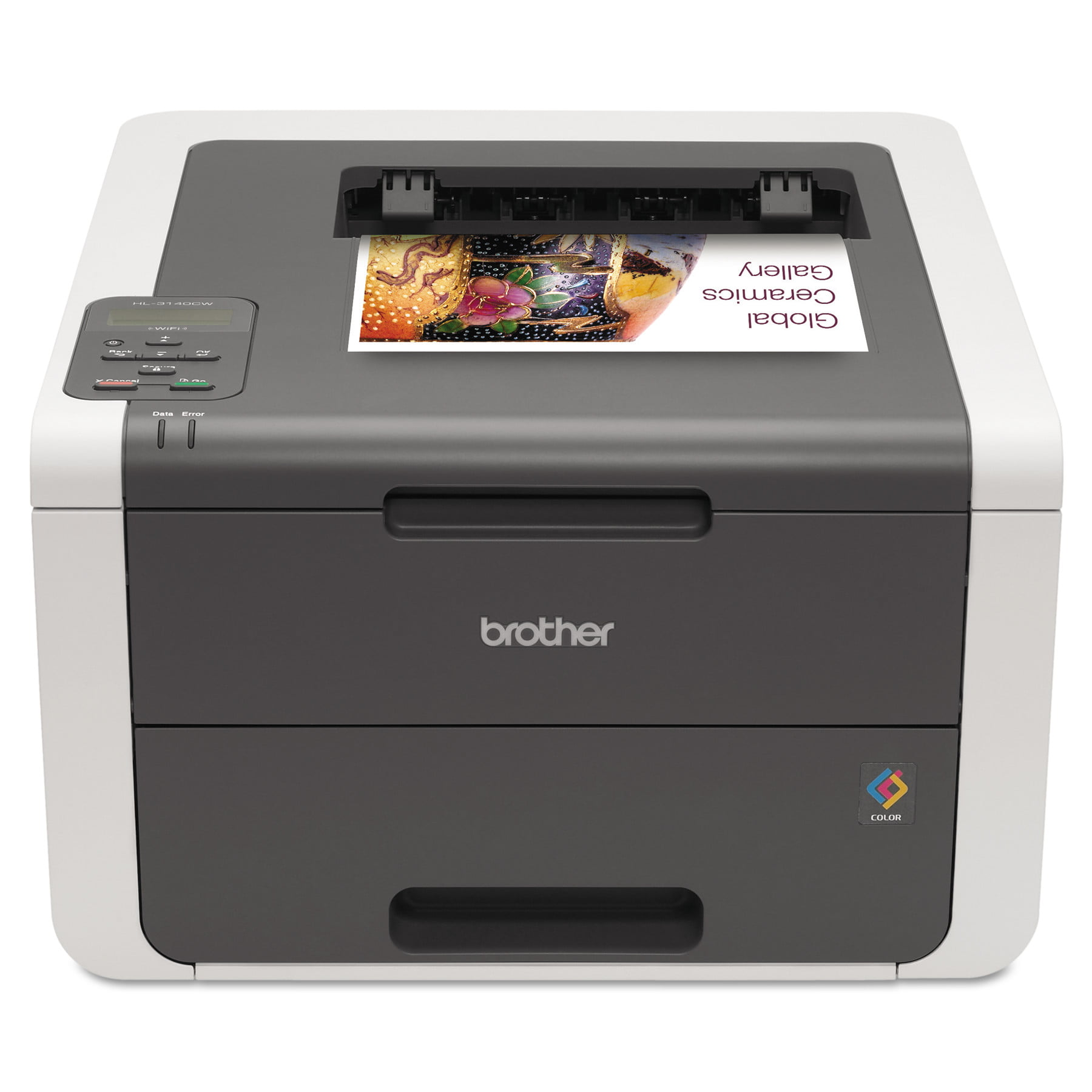 Click here to buy Brother HL-3140CW Digital Color Printer with Wireless Networking by Brother.