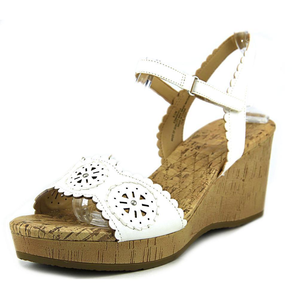 Easy Spirit Marvela Women Open Toe Synthetic White Wedge Sandal by Easy Spirit