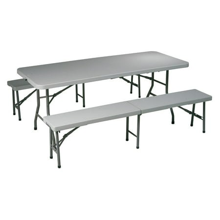Surprising 3 Piece Folding Table And Bench Set Gmtry Best Dining Table And Chair Ideas Images Gmtryco