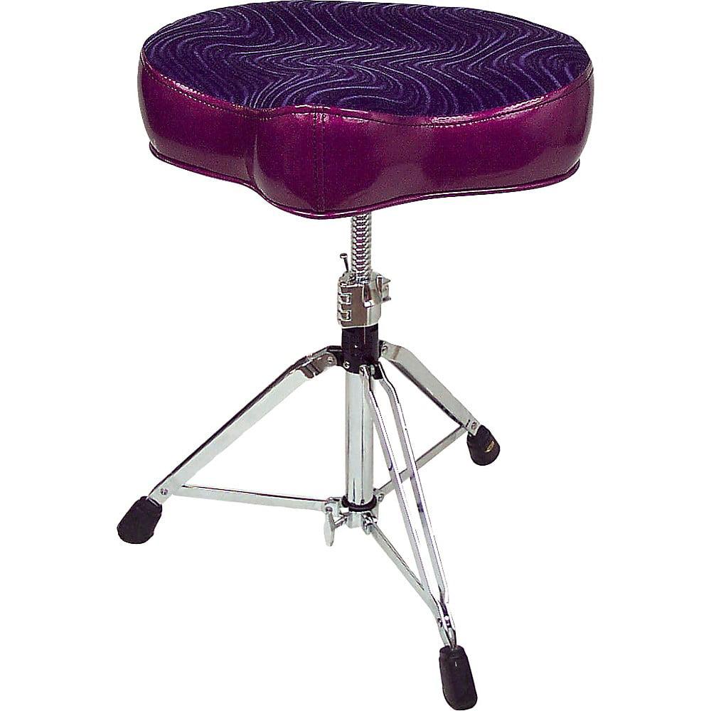 Pork Pie Big Boy Bicycle Throne Purple Sparkle with Purple Swirl Top
