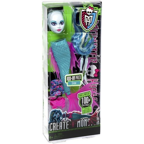 Monster High Create-a-Monster Siren Doll Add-On Pack