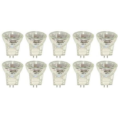Anyray A2011Y (10-lamps) MR8 5-Watts Fiber Optic 6V 5W Reflector Light Bulb (5 Light Optic)