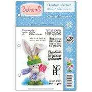 "Bebunni Ezmount Cling Stamp Set 5.5""X8.5""-Christmas Present"