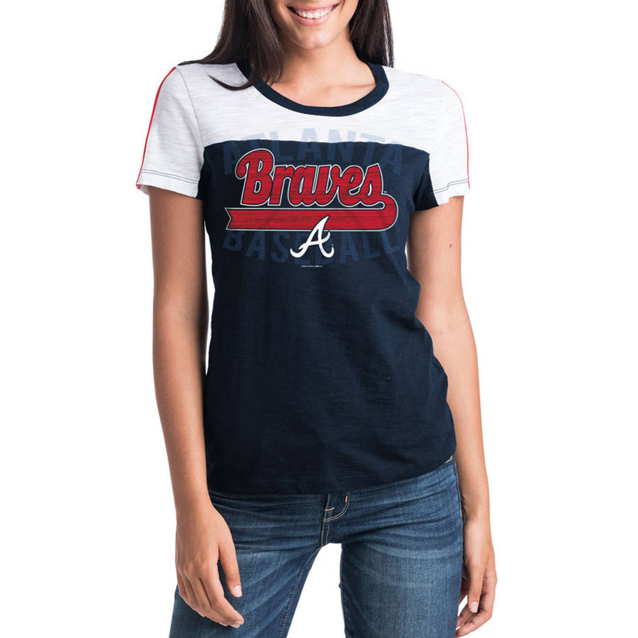 MLB Atlanta Braves Women's Short Sleeve Team Color Graphic Tee